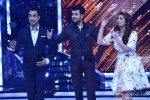 Ranvir Shorey, Manish Paul and Chopra during the promotion of movie 'Daawat-E-Ishq' on the set of Jhalak Dikhhla Jaa 7'