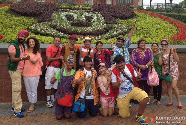 Taarak Mehta Ka Ooltah Chashmah team at HongKong Disneyland