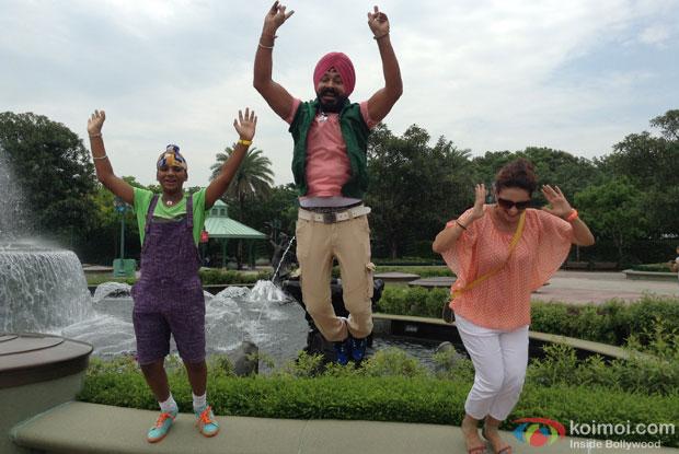 Sodhi family in air at HongKong Disneyland