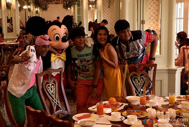 Tappu sena with Mickey at HongKong Disneyland