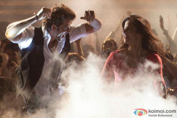Hrithik Roshan and Katrina Kaif in a 'Tu Meri' song still from movie 'Bang Bang'