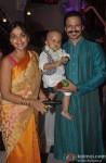 Priyanka Alva Oberoi, Vivaan Veer Oberoi and Vivek Oberoi at Iskon Temple