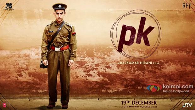 Aamir Khan in a PK movie poster