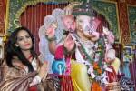Poonam Pandey Visits Andheri Cha Raja