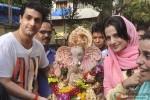 Ameesha Patel Celebrates The Ganpati Festival At Home