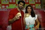 Aditya Roya Kapur and Parineeti Chopra during the promotion of movie 'Dawat-E-Ishq' at Big FM Studio Pic 3