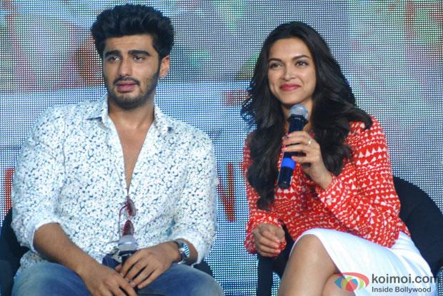 Arjun Kapoor and Deepika Padukone at an event