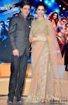 Shah Rukh Khan and Deepika Padukone during the grand music launch of 'Happy New Year'