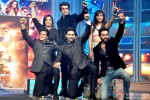 Shah Rukh Khan, Farah Khan, Sonu Sood, Abhishek Bachchan, Neeti Mohan and Shekhar Ravjiani during the grand music launch of 'Happy New Year'