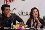 Sonu Sood and Farah Khan during the Grand Press Meet Of SLAM! The Tour In Houston