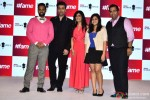 VJ Andy, Karan Johar and Shibani Kashyap during the launch of #Fame - A digital entertainment network