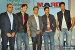 Salim Merchant, Farhan Akhtar and Sulaiman Merchant during the launch of MARD song Pic 3