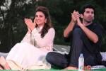 Parineeti Chopra & Aditya Roy Kapur during the promotion of 'Daawat-e-Ishq' in Agra Pic 2