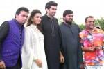 Parineeti Chopra, Aditya Roy Kapur, Wajid Ali and Sajid Ali during the promotion of 'Daawat-e-Ishq' in Agra