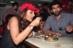 Parineeti Chopra and Aditya Roy Kapur during the 'Daawat-e-Ishq' Food Yatra
