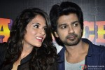 Richa Chadda and Nikhil Dwivedi during the launch of movie Tamanchey's song 'In Da Club' Pic 1