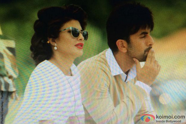 Jacqueline Fernandez & Ranbir Kapoor on the sets of movie 'Roy'