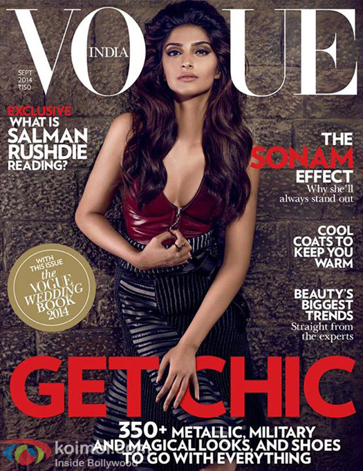Sonam Kapoor on a Vogue Magazine Cover