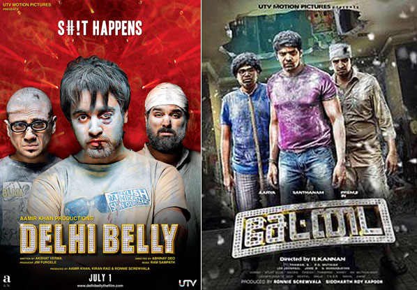 Delhi Belly and Settai (Tamil) Movie Poster
