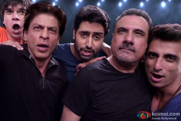 Vivaan Shah, Shah Rukh Khan, Abhishek Bachchan, Boman Irani and Sonu Sood