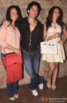 Ayesh Shroff, Tiger Shroff and Krishna Shroff during the launch of The MJ Tribute Video Pic 1