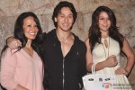 Ayesh Shroff, Tiger Shroff and Krishna Shroff during the launch of The MJ Tribute Video Pic 2