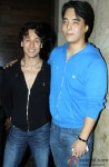 Tiger Shroff and Rinzing Denzongpa during the launch of The MJ Tribute Video