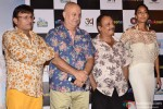 Annu Kapoor, Anupam Kher, Piyush Misha and Lisa Haydon during the trailer launch of the movie 'The Shaukeens'