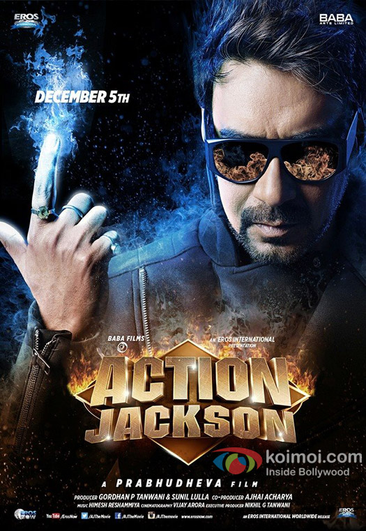 Ajay Devgn in a 'Action Jackson' movie poster