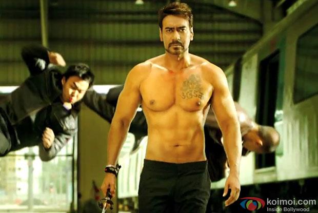Ajay Devgn in a still from movie 'Action Jackson'