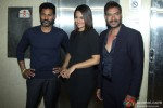 Prabhu Deva, Sonakshi Sinha and Ajay Devgn during the promotion of movie 'Action Jackson' on the set of 'Kaun Banega Crorepati' Pic 2