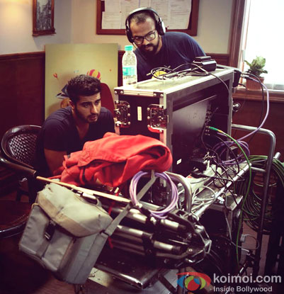 Arjun Kapoor on the sets of movie' Bank Chor'