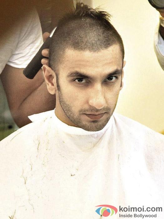 Ranveer Singh on the sets of movie 'Bajirao Mastani'