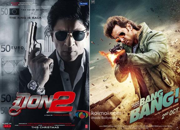 'Don 2' and 'Bang Bang' movie posters