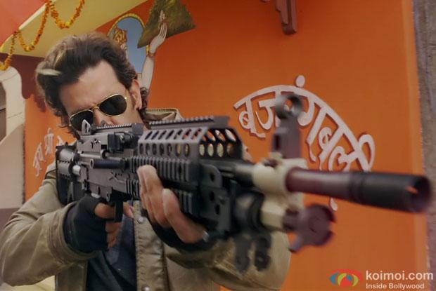 Hrithik Roshan in a still from movie 'Bang Bang'