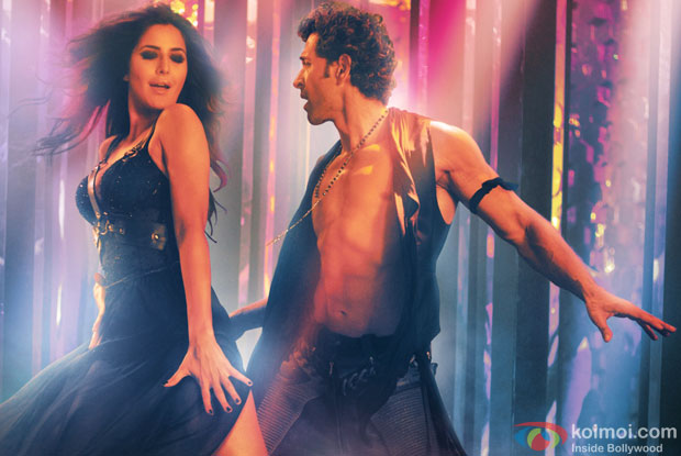 Katrina Kaif and Hrithik Roshan in a still from movie ' Bang Bang'