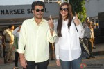 Anil Kapoor and Sonam Kapoor Cast Vote For Maharashtra State Assembly Elections 2014