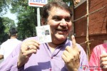 Raza Murad Cast Vote For Maharashtra State Assembly Elections 2014