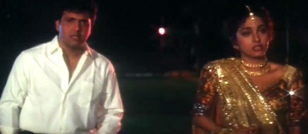 Govinda and Juhi Chawla in a still from movie 'Andaz Apna Apna'