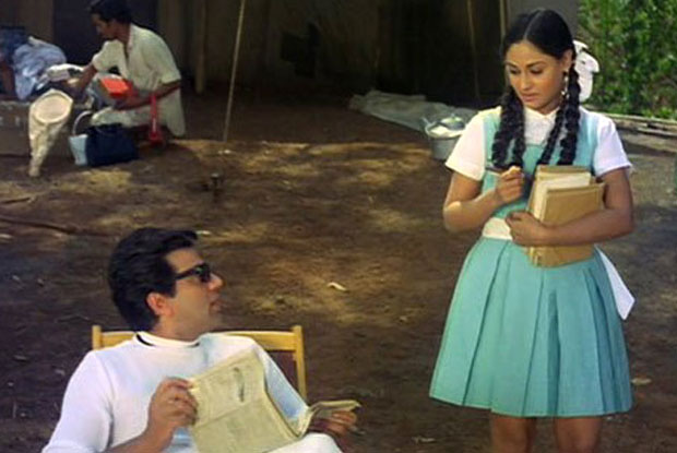 Dharmendra and Jaya Bhaduri in a still from movie 'Guddi'