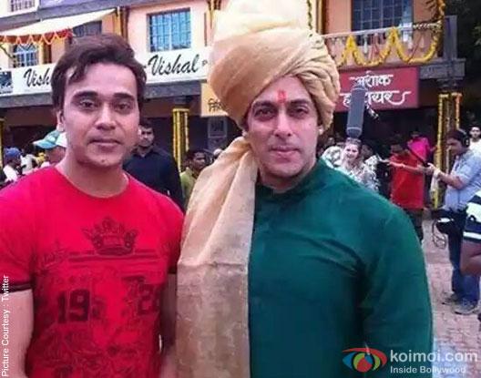 Salman Khan on the sets of 'Prem Ratan Dhan Payo'