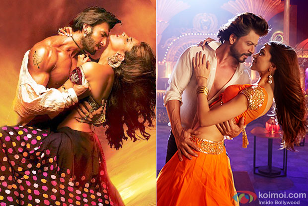 Still from movie 'RamLeela' and 'Happy New Year'
