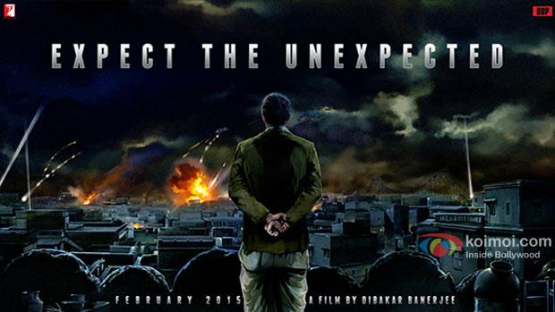 Sushant Singh Rajput in a movie 'Detective Byomkesh Bakshi' teaser poster