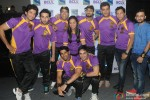 Vindu Dara Singh and Ravi Kishan during the launch of 'Box Cricket League'