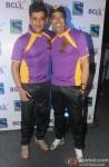 Ravi Kishan and Vindu Dara Singh during the launch of 'Box Cricket League'