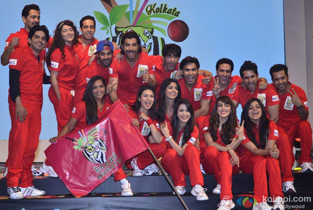 Jaipur Raj Team During The Launch Of Box Cricket League