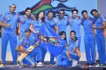 Pune Anmol Ratan Team during the launch of 'Box Cricket League'
