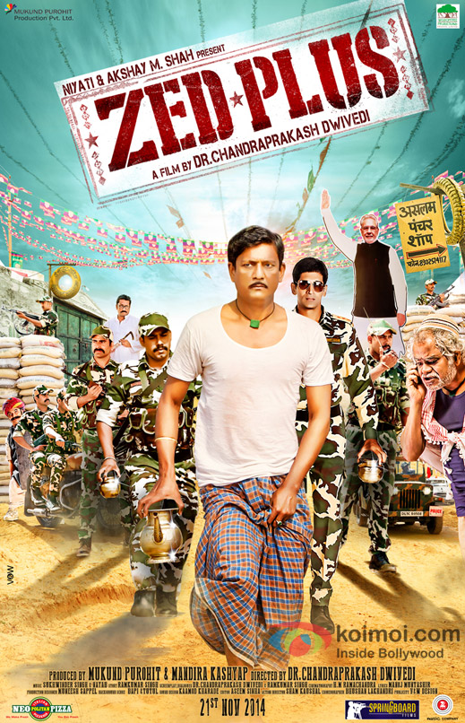 Adil Hussain in a 'Zed Plus' movie poster