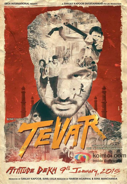 Arjun Kapoor in a 'Tevar' movie poster