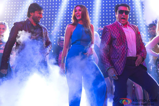 Saif Ali Khan, Ileana Dcruz, and Govinda in a song 'G Phaad Ke' from movie 'Happy Ending'